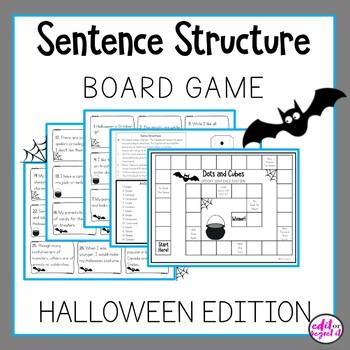 Sentence Structure Board Game Halloween Edition Spooky Sentences!