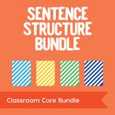 Sentence Structure Bundle: 160 Task Cards Plus Grammar Posters & Quiz