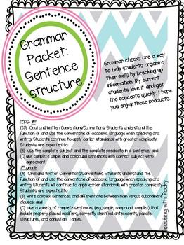 Sentence Structure Bundle