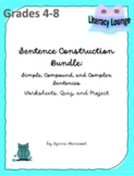 Sentence Structure Bundle:  Simple, Compound, and Complex Sentences