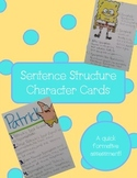 Sentence Structure Character Cards