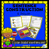 Sentence Structure Construction Theme Packet