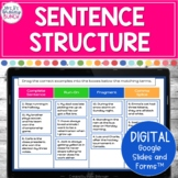 Sentence Structure Digital Activities | Distance Learning
