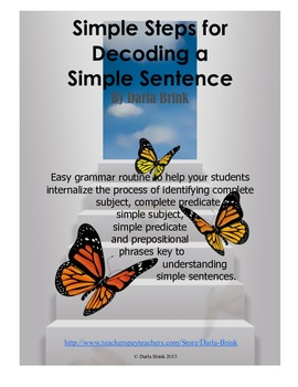 Sentence Structure: Easy Steps to Decoding a Simple Sentence