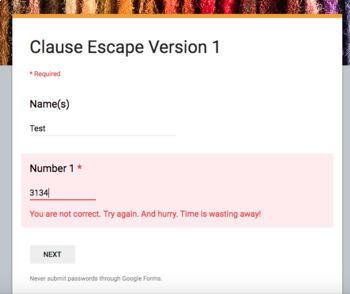 Clause Escape Room