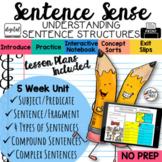 Sentence Structure Grammar Unit for 3rd Grade, 4th Grade, 5th Grade