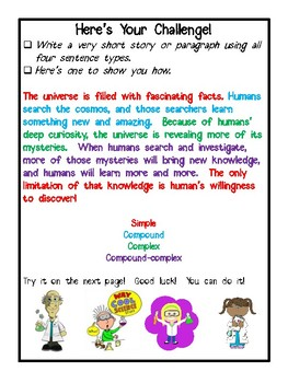 Sentence Structure:  Identifying and Applying