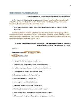 Sentence Structure - Learning in a Progressive Way