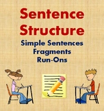 Sentence Structure Lesson and Practice: Simple Sentences, Fragments, and Run-Ons