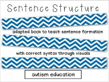 Sentence Structure Level Two - Adapted Book/File Folders