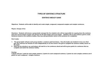 Sentence Structure Medley