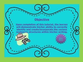 Sentence Structure PPT Safari Theme 6th, 7th, 8th Grades ~ UPDATED VERSION