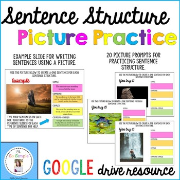 Sentence Structure Picture Practice