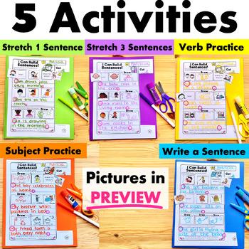 Sentence Building - Cut and Paste NO PREP