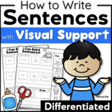 Sentence Writing and Cut and Paste Sentence Structure