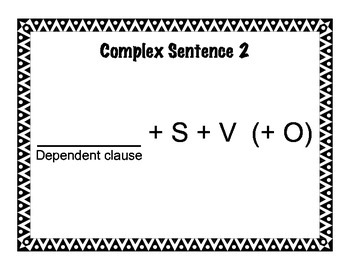 Sentence Structure Posters for Simple, Compound, and Complex Sentences