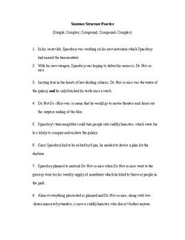 Sentence Structure Practice 2