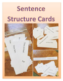 Sentence Structure Printable Cards - independent and subor