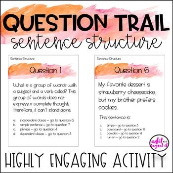 Sentence Structure Question Trail - Question Loop