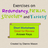 Exercises on Redundancies, Parallel Structure, and Variety