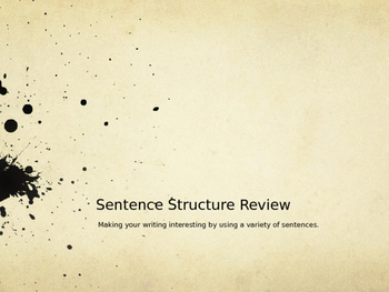 Sentence Structure Review