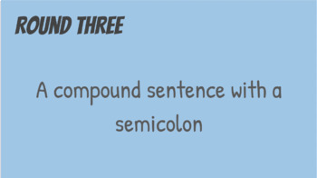 Sentence Structure Review Game: Sentence Town