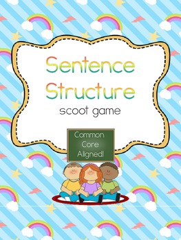 Sentence Structure Scoot- Common Core Aligned