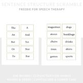 Sentence Structure Game for Speech | Nouns, Verbs, Capital