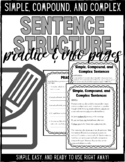 Sentence Structure: Simple, Compound, and Complex Sentences
