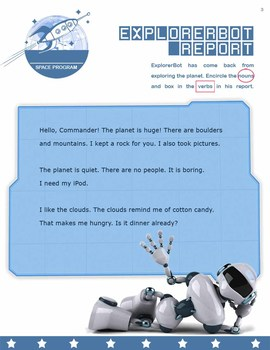 Sentence Structure - Space Commanders! *Quiz/Activity*