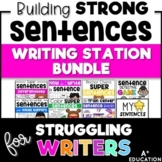 Writing Station - Building Strong Sentences Growing Bundle