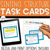 Sentence Structure Task Cards: Simple, Compound, and Compl