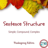 Sentence Structure: Thanksgiving Edition
