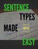 Sentence Structure Types Lesson Plan
