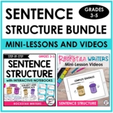 Sentence Structure Unit with Mini-Lesson Videos