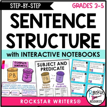 Sentence Structure - Sentence Writing - Subjects, Predicates, Fragments, Run-Ons