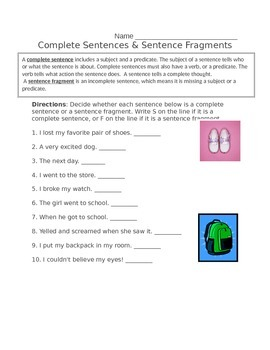 Sentence Structure Worksheet Bundle & Final Test by Mrs Wood's ...