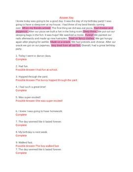 Sentence Structure Worksheet Bundle & Final Test