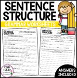 Sentence Structure Worksheets - No Prep Printables