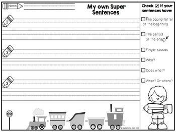 Sentence Writing - Train Activity