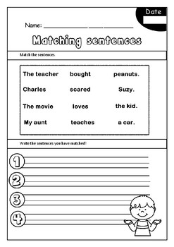 Sentence Structure - Writing Sentences