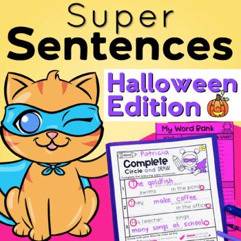 Sentence Structure  Writing Super Complete Sentences Halloween