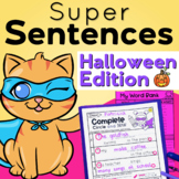 Sentences Writing for Halloween and Sentence Structure Pra