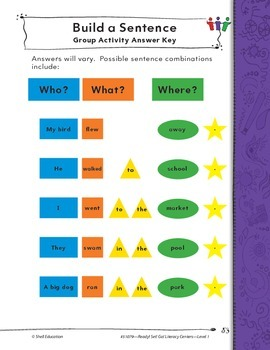 Sentence Structure and Meaning--Build a Sentence Literacy Center (eLesson)