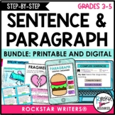 Sentence Structure | Paragraph Writing | Digital & Printab