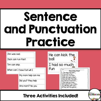 Sentence and Punctuation Practice