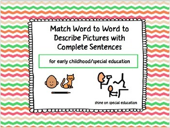 Sentence Structure - Adapted Book/File Folders