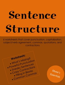 Sentence Structure/Punctuation Worksheets