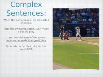 Teaching Grammar in Writing: Sentence Structures PowerPoint and Activity
