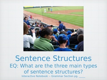 Teaching Grammar in Writing: Sentence Structures PowerPoin